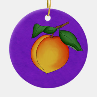 Juicy Peach & Purple Background Ornament