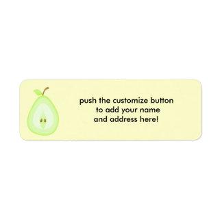 Juicy pear - address labels