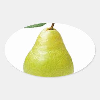 juicy pear oval sticker