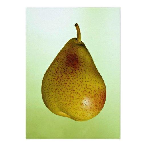 Juicy Peckham pear fruit Personalized Announcement