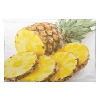 Juicy Pineapple Slices Placemat