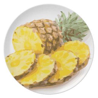 Juicy Pineapple Slices Dinner Plate