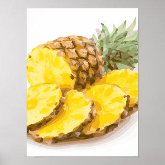 Juicy Pineapple Slices Print