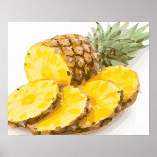 Juicy Pineapple Slices Poster