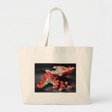 Beach Themed Juicy Pomegranate Large Tote Bag