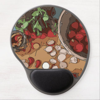 Juicy Radishes and Grilled Potato Gel Mouse Pad