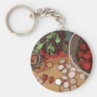 Juicy Radishes and Grilled Potato Keychain