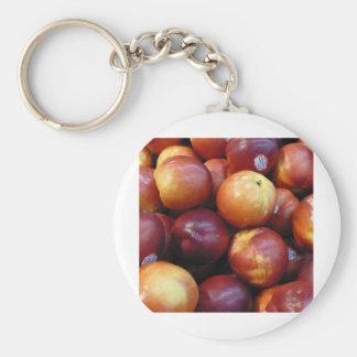 Juicy Red apples Basic Round Button Keychain