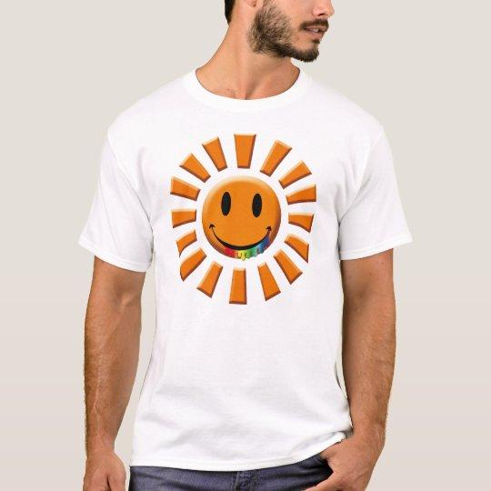 Juicy Smiley Rainbow Face Mark Sun T-Shirt