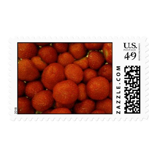 Juicy Strawberries  Postage Stamps