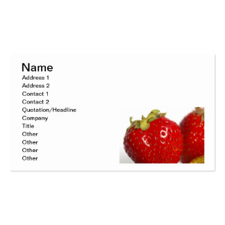 Juicy Strawberry business cards