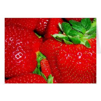Juicy summer strawberries blank card