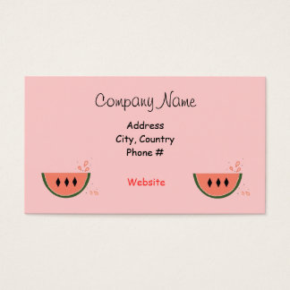 Juicy Watermelon Business Card