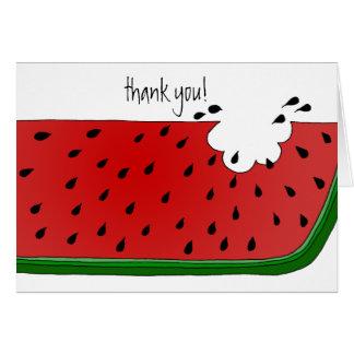 Juicy Watermelon Card