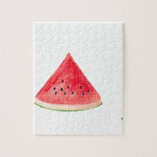 Juicy watermelon fruit jigsaw puzzle
