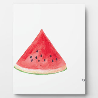 Juicy watermelon fruit plaque