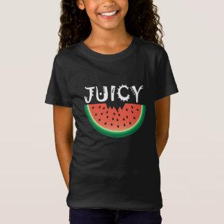 Juicy Watermelon - Girls' Bella+Canvas Jersey T-Sh T-Shirt