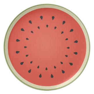 Juicy watermelon melamine plate