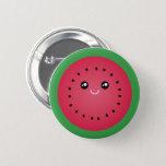 Juicy Watermelon Slice Cute Kawaii Funny Foodie Button