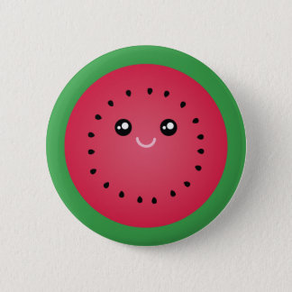 Juicy Watermelon Slice Cute Kawaii Funny Foodie Button