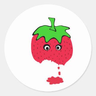 juicystrawberry classic round sticker