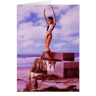 JuJu subió bloques de la playa Tarjeta De Felicitación