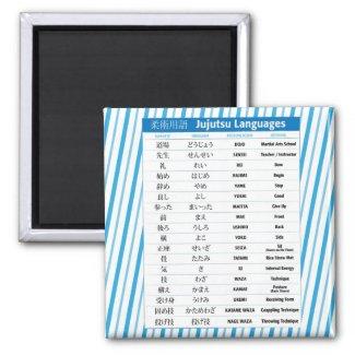 Jujutsu Chart Fridge Magnet