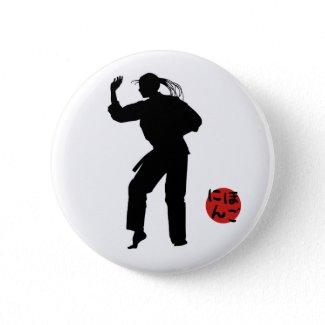Jujutsu Girl and Chart Pinback Buttons