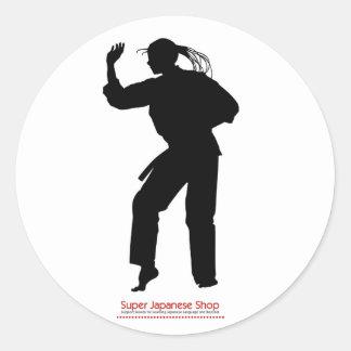Jujutsu Girl and Chart Classic Round Sticker