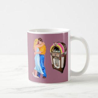 Juke box slow dancing vintage monogram mug