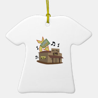 Juke Joint Building Double-Sided T-Shirt Ceramic Christmas Ornament