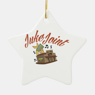 Juke Joint Double-Sided Star Ceramic Christmas Ornament