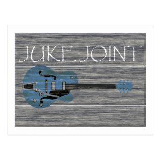 Juke Joint Retro Sign Postcard