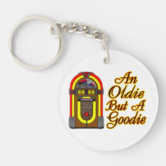 Jukebox An Oldie But A Goodie Double-Sided Round Acrylic Keychain