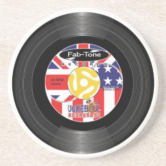 Jukebox Explosion 45 Label Coaster
