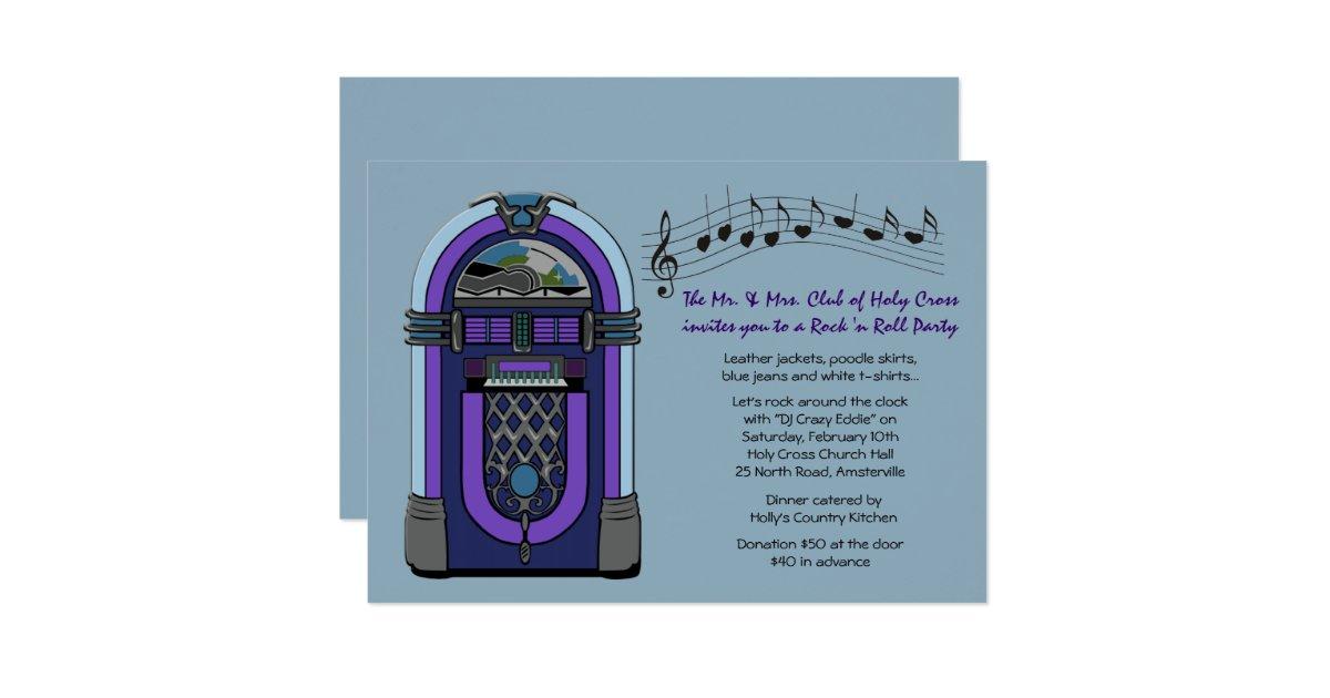 jukebox invitation zazzle With wedding invitation online jukebox