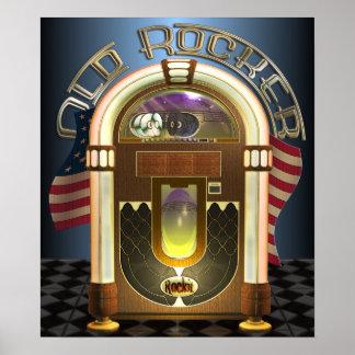 Jukebox Old Rocker Poster