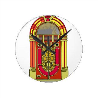 Jukebox Round Clock
