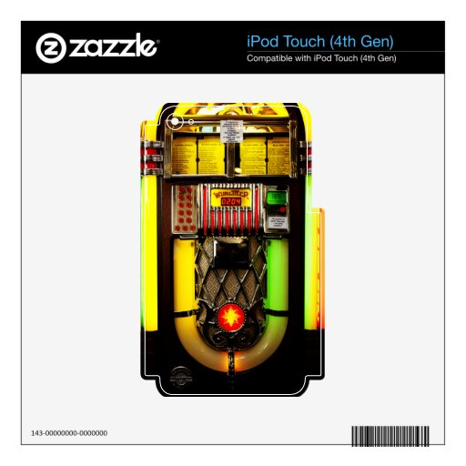 Jukebox iPod Touch 4G Skins