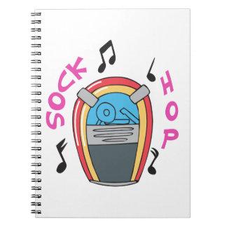 JUKEBOX SOCK HOP SPIRAL NOTE BOOKS