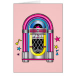 Jukebox with Stars and Notes Stationery Note Card