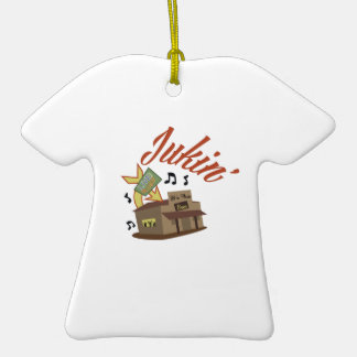 Jukin Building Double-Sided T-Shirt Ceramic Christmas Ornament