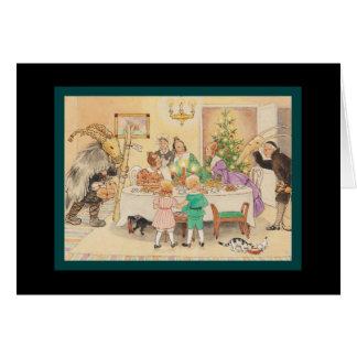Jul Goat at the Christmas Table Greeting Card