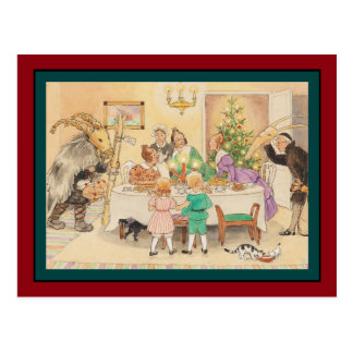 Jul Goat at the Christmas Table Postcard