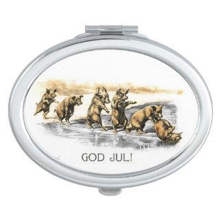 Jul Pigs on Ice Compact Mirror