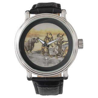 Jul Pigs on Ice Wrist Watches