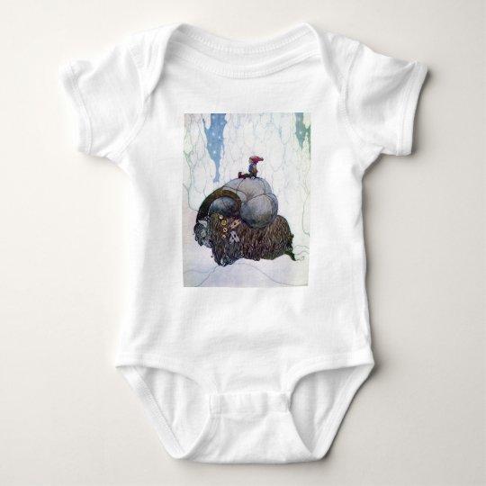 Julbocken que monta la cabra de Yule Body Para Bebé