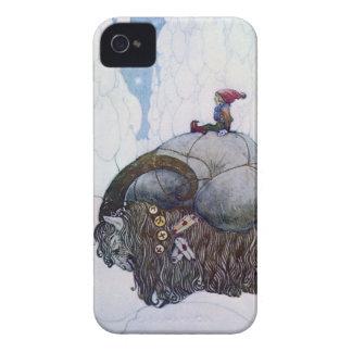 Julbocken que monta la cabra de Yule Carcasa Para iPhone 4 De Case-Mate