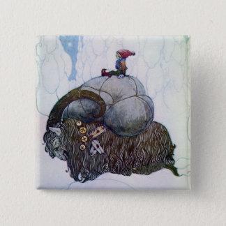 Julbocken Riding Yule Goat Pinback Button