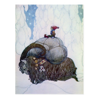 Julbocken - The Christmas Goat Post Card